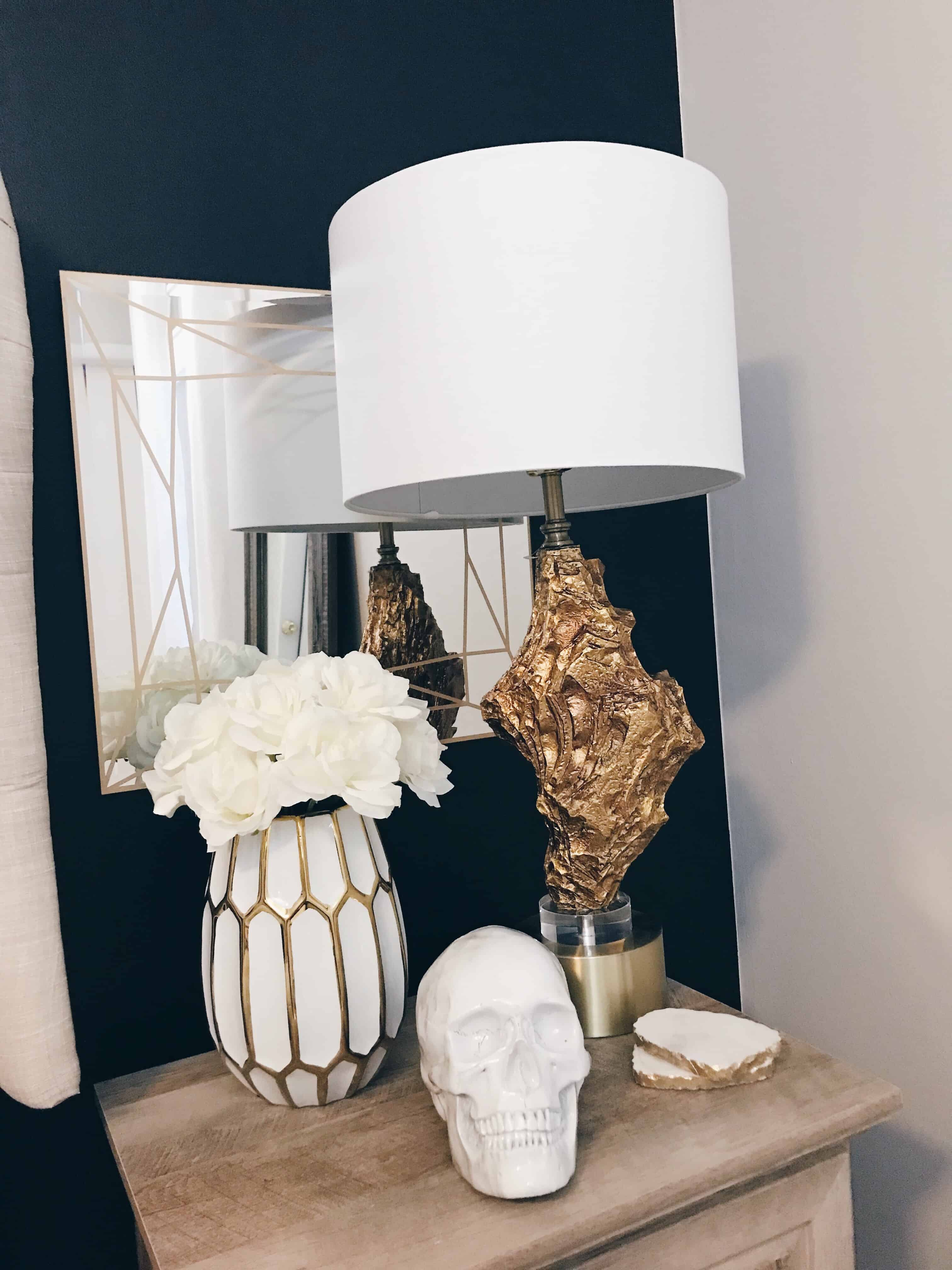 bedroom lamp glam