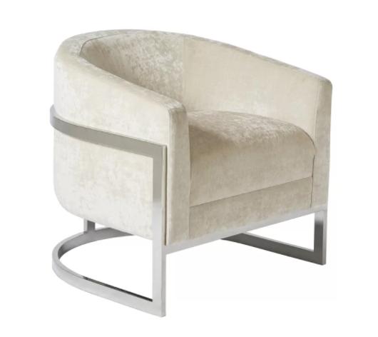 ivory velvet seat