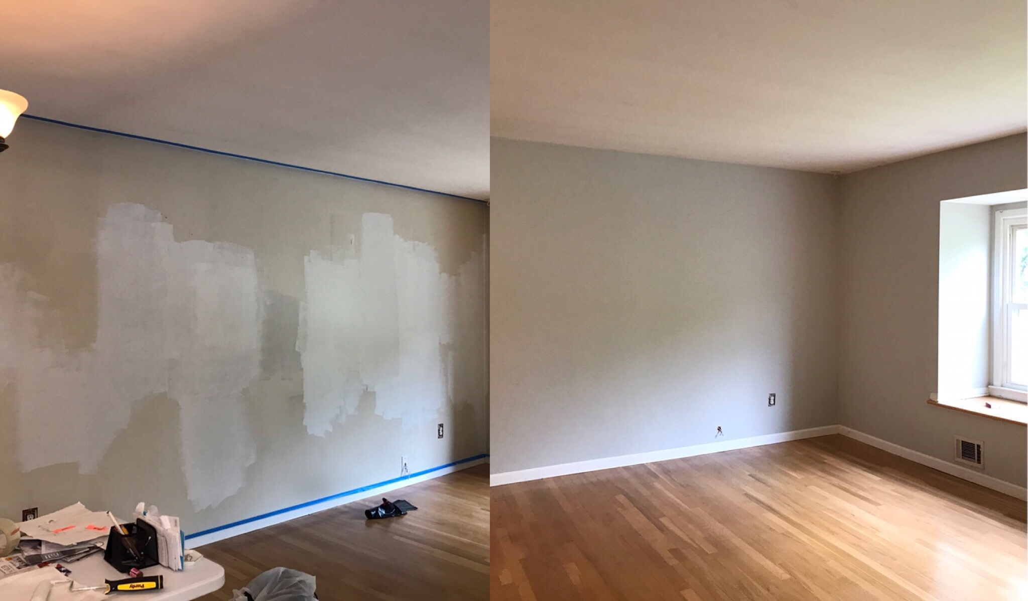 Before and after, Home decor, Interior design, Interior decor, Gray Paint, Sherwin Williams, Glam Decor, Redesign, Interior, Interior design, Home inspo, Decor inspo