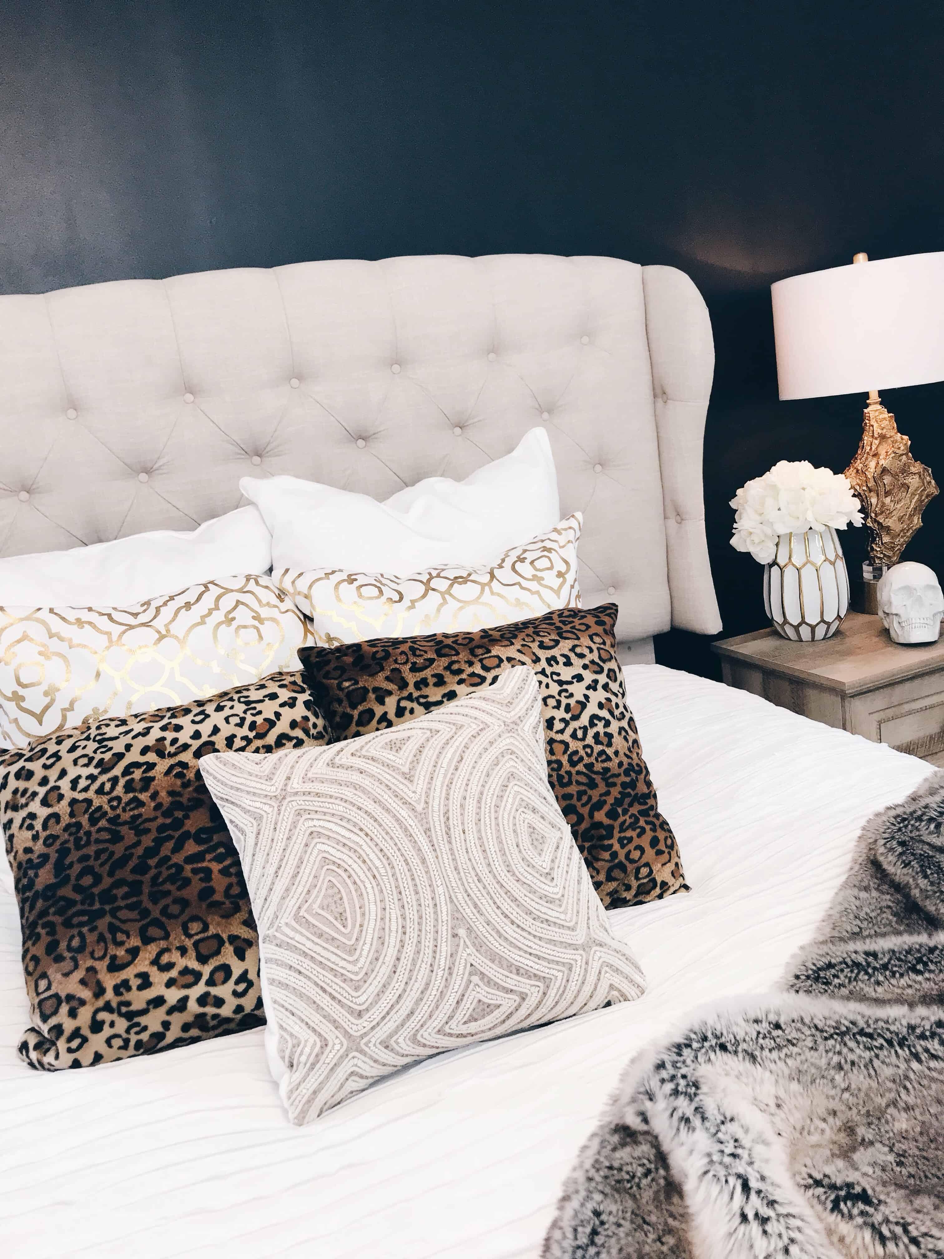 dark bedroom glam
