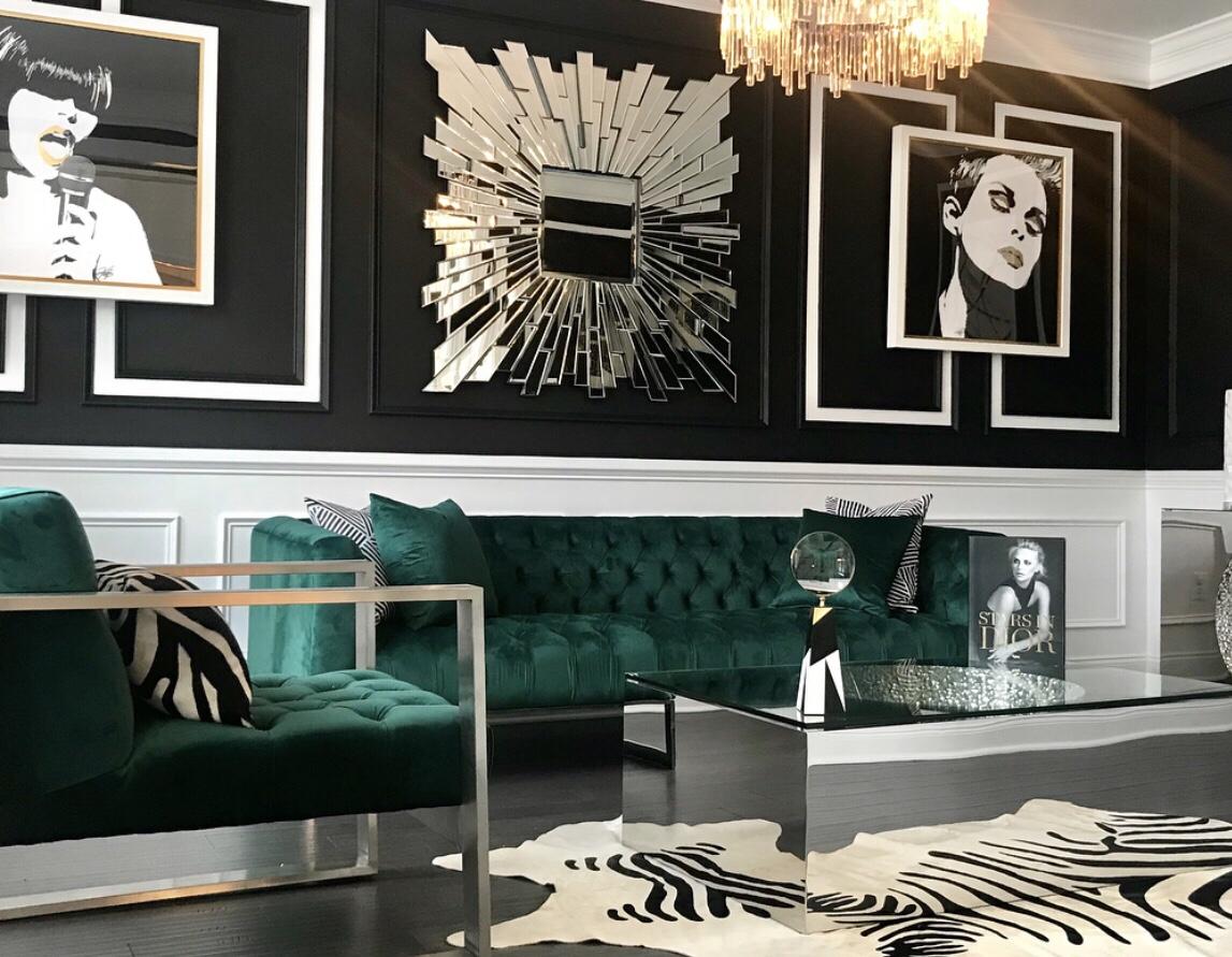 hunter green velvet tufted sofa