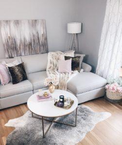modern glam living room decor