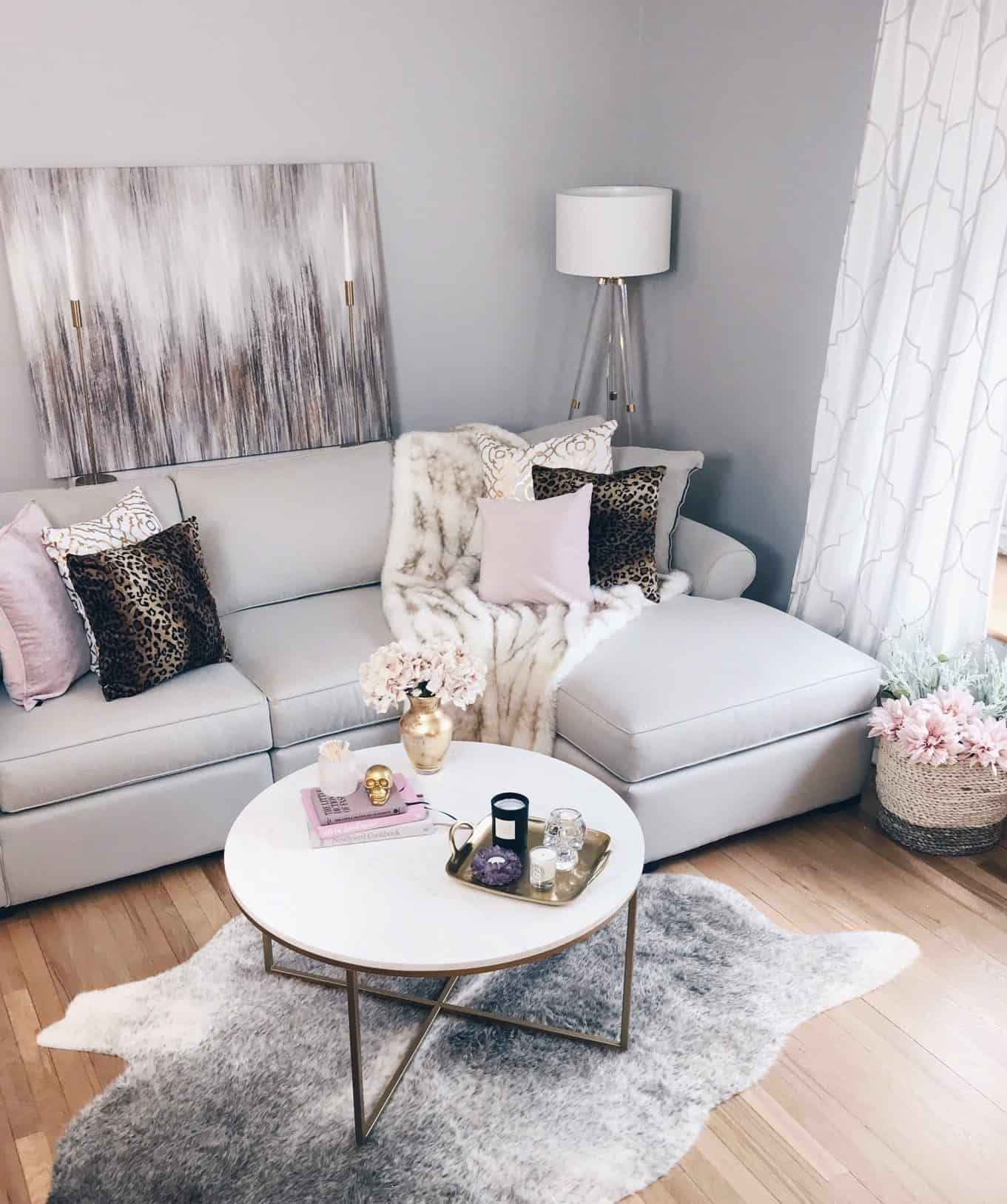 Glam Living Room: Bringing A Modern Glam Living Room Vision To Life • A