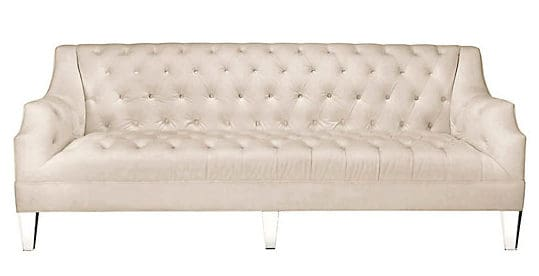 ivory tufted sofa