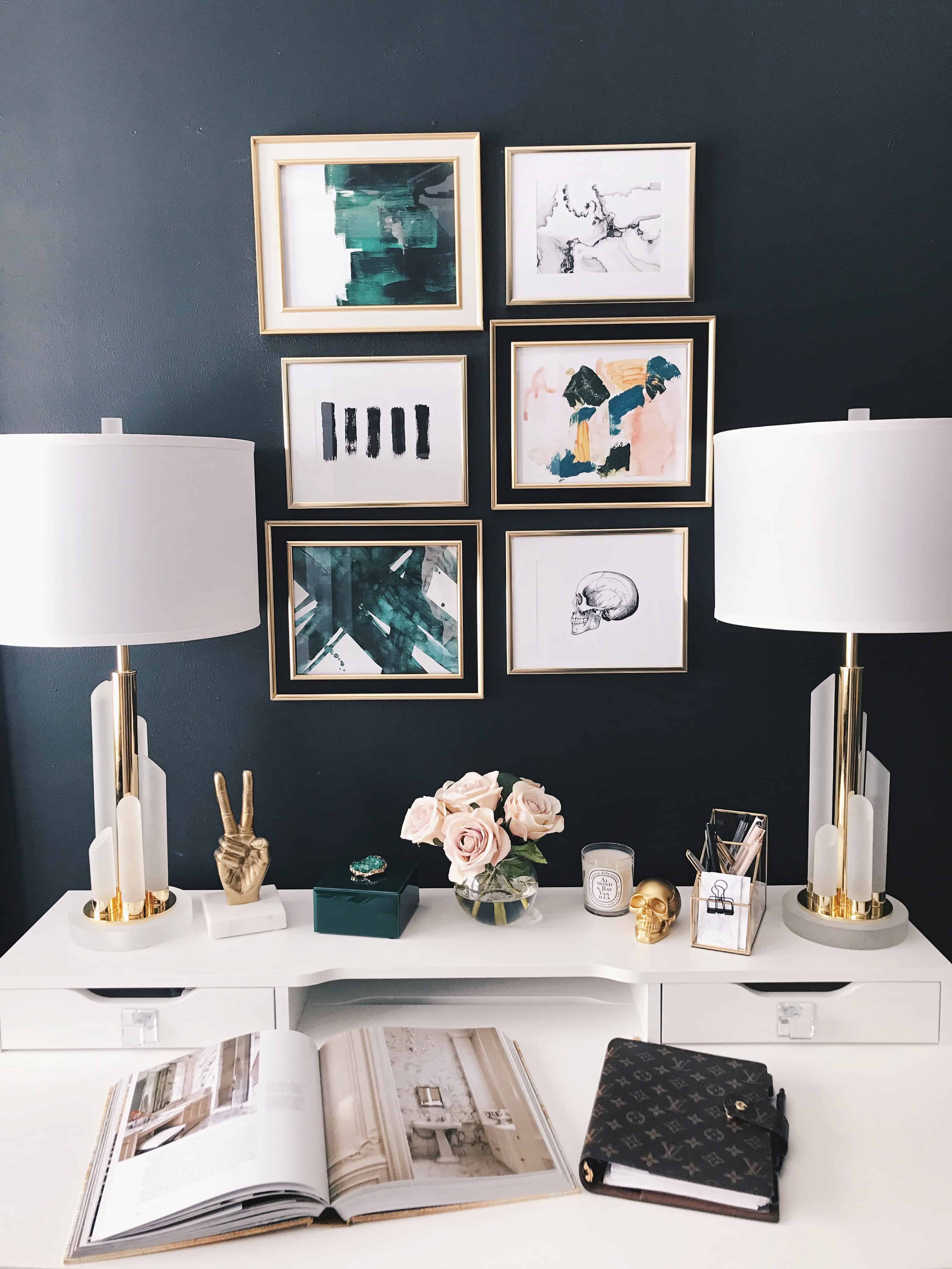 glam gallery wall