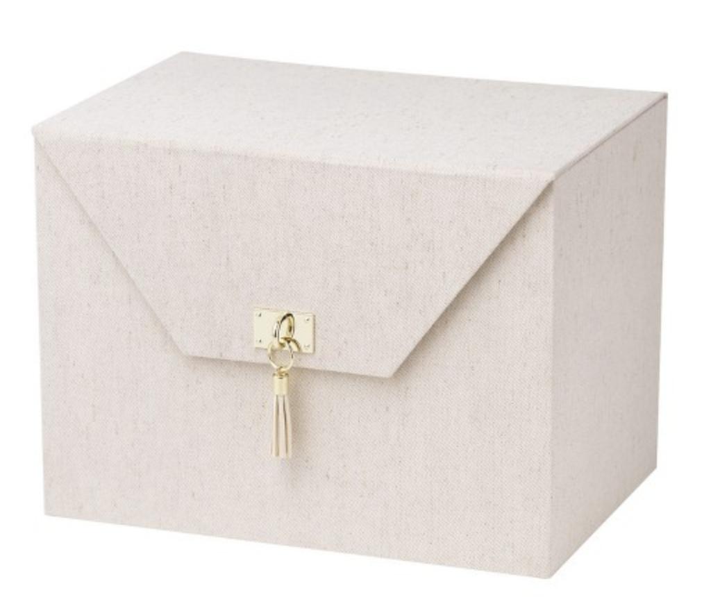 linen file box
