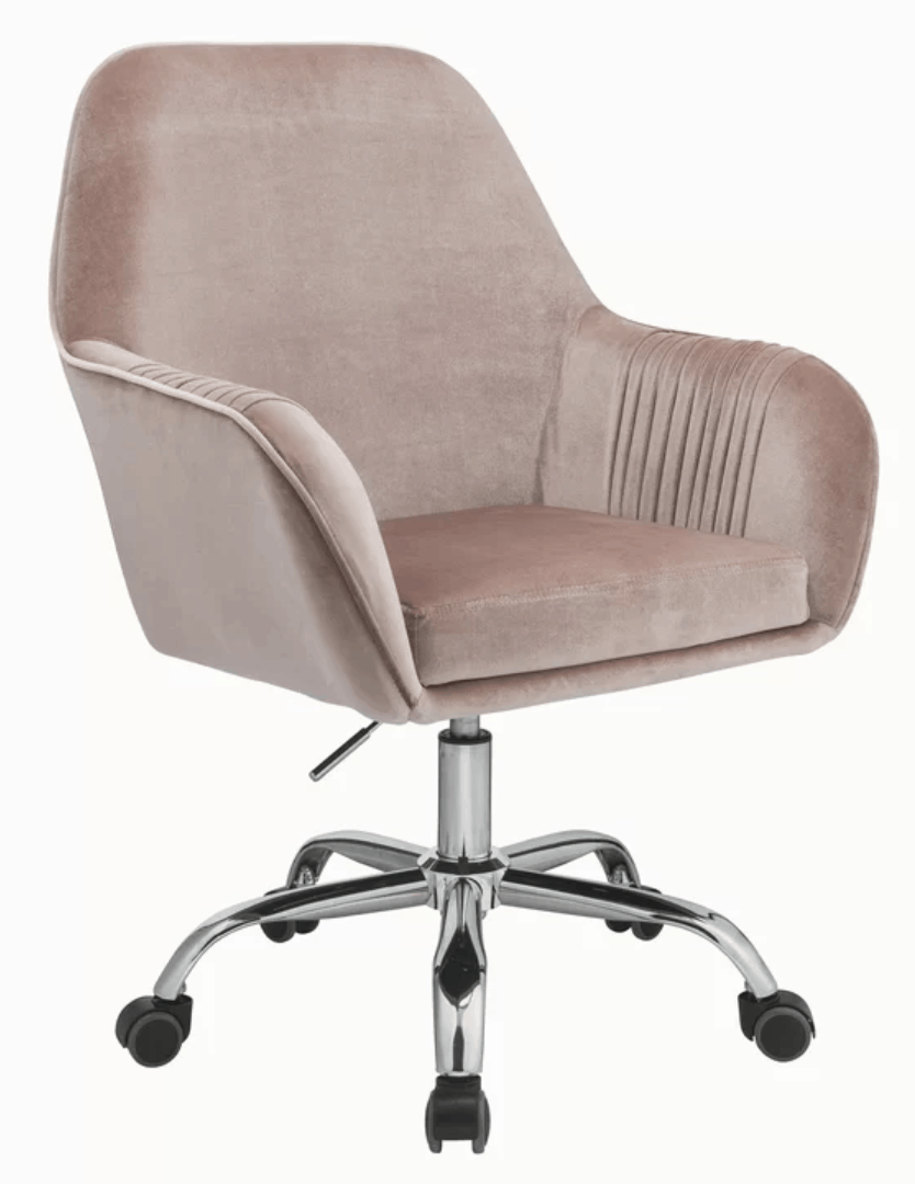 blush pink desk chair