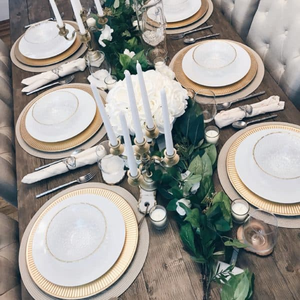 tablescape greenery