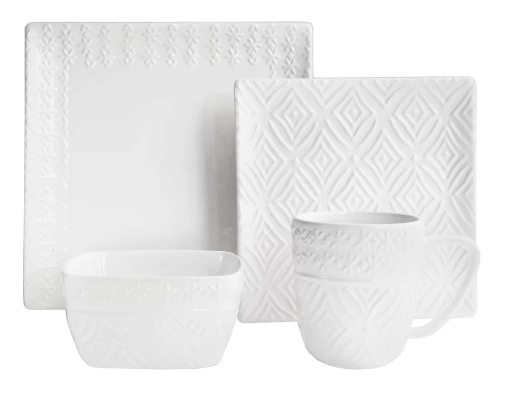 modesto 16 piece dinnerware set