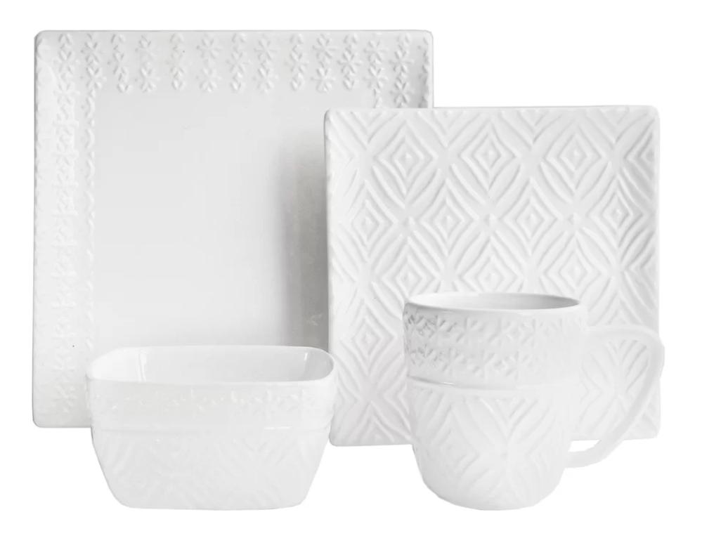 modesto 16 piece dinnerware set