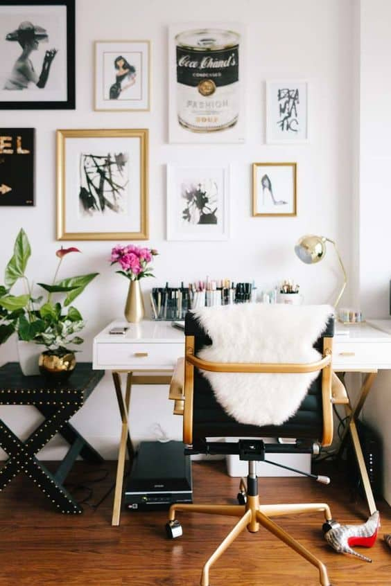 masculine glam gallery wall