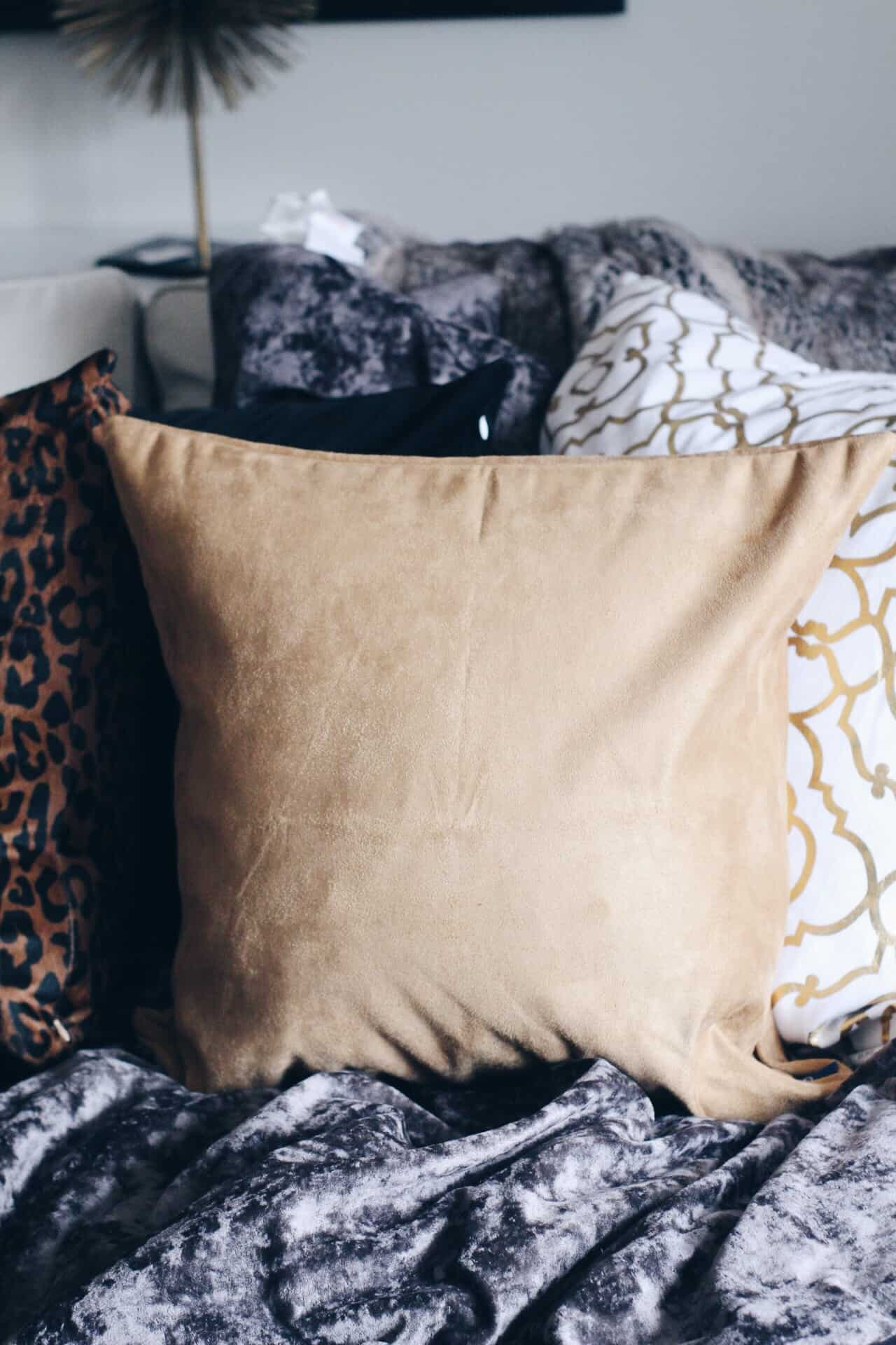 faux suede pillows
