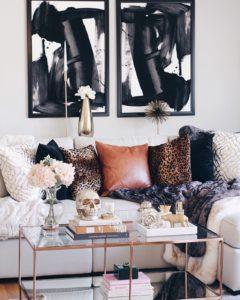 masculine glam living room
