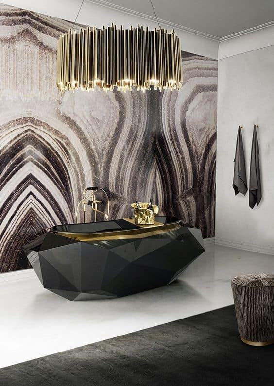 gold marble bathroom