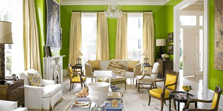 green yellow room