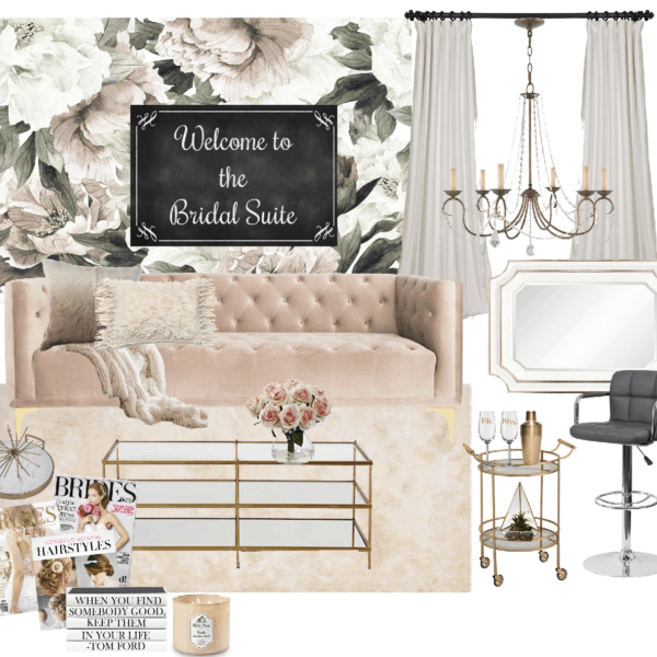 bridal suite concept board
