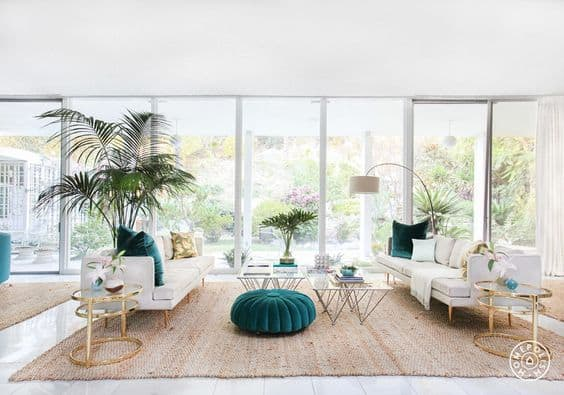 beach living room vibes