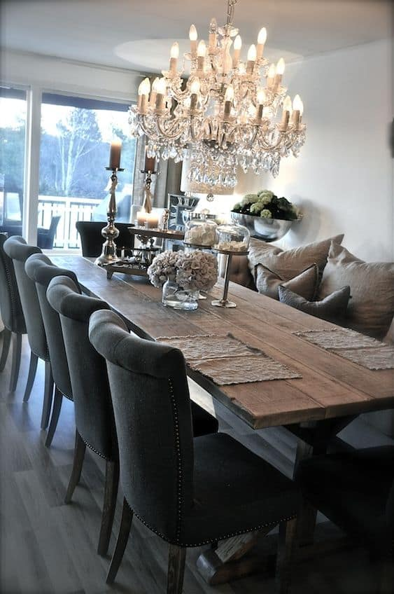 rustic glam dining room