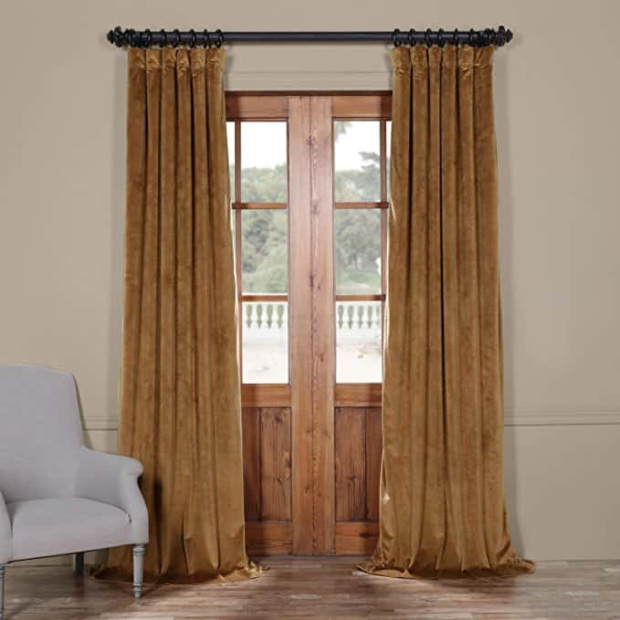 beautiful velvet curtains