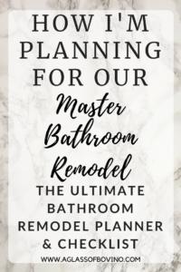 bathroom remodel checklist planner