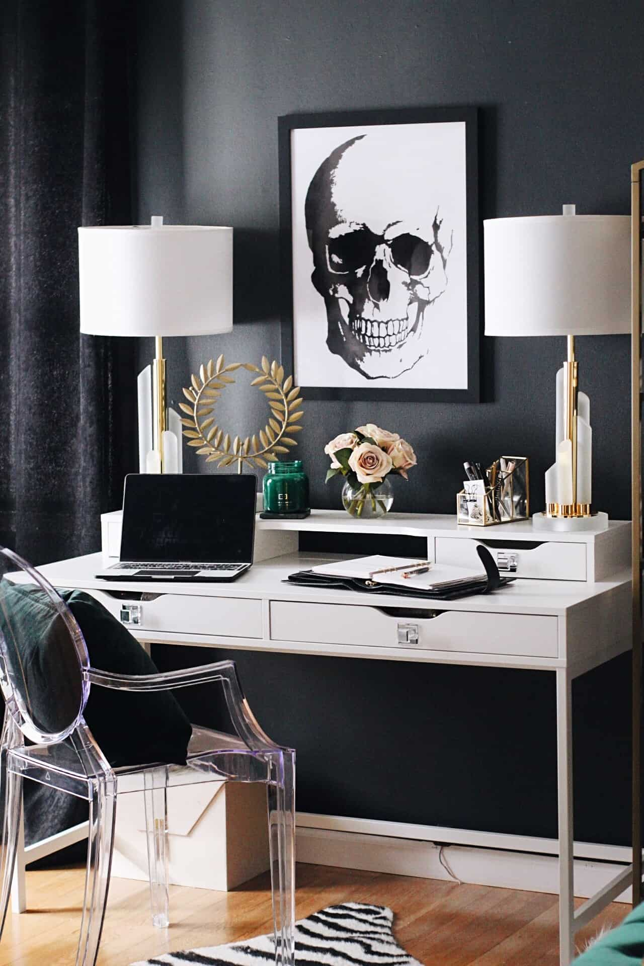 masculine glam office