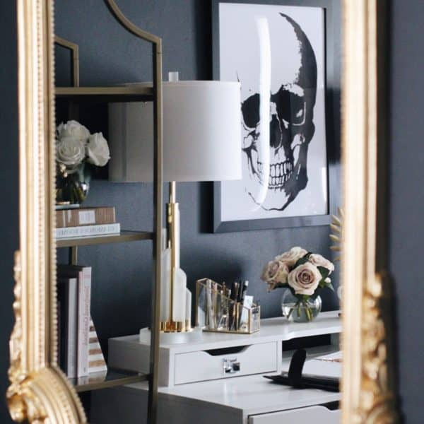masculine glam office design