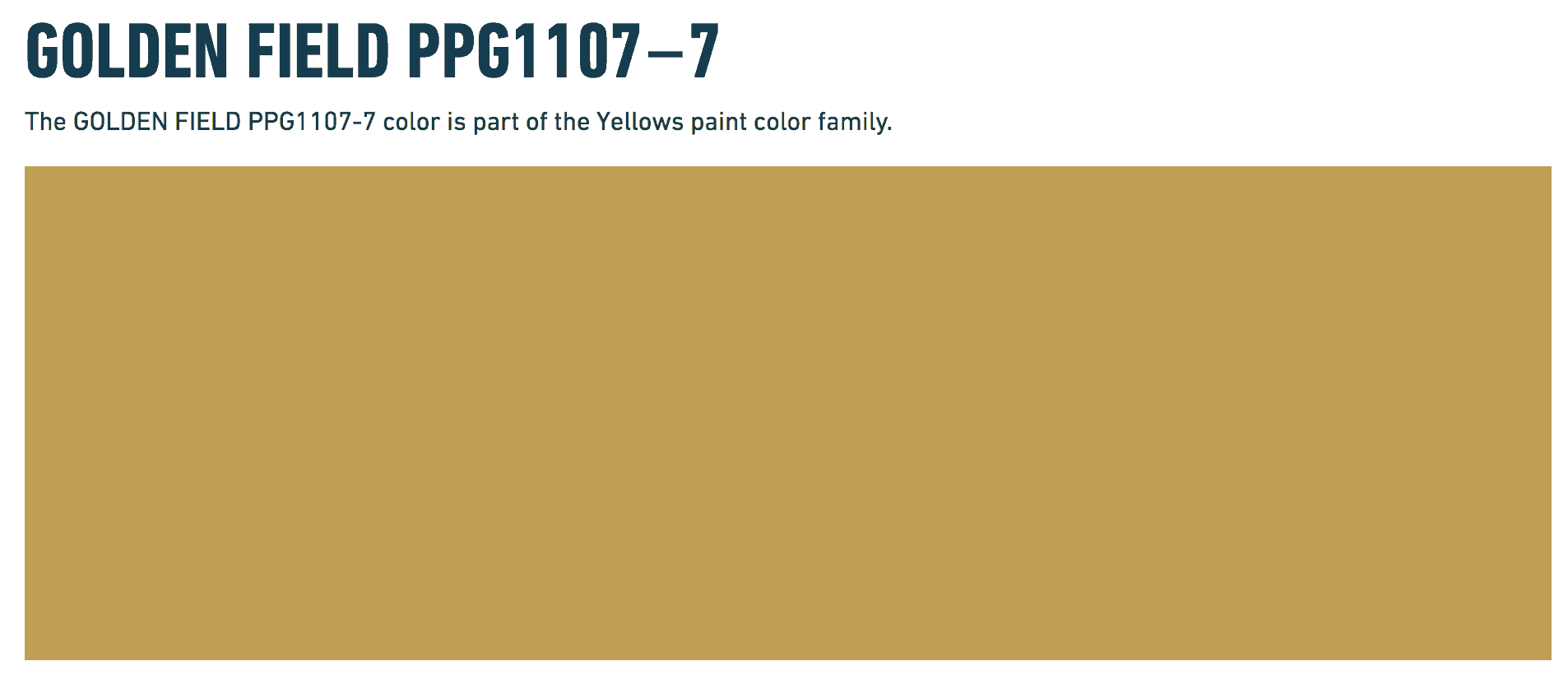 golden field ppg paints