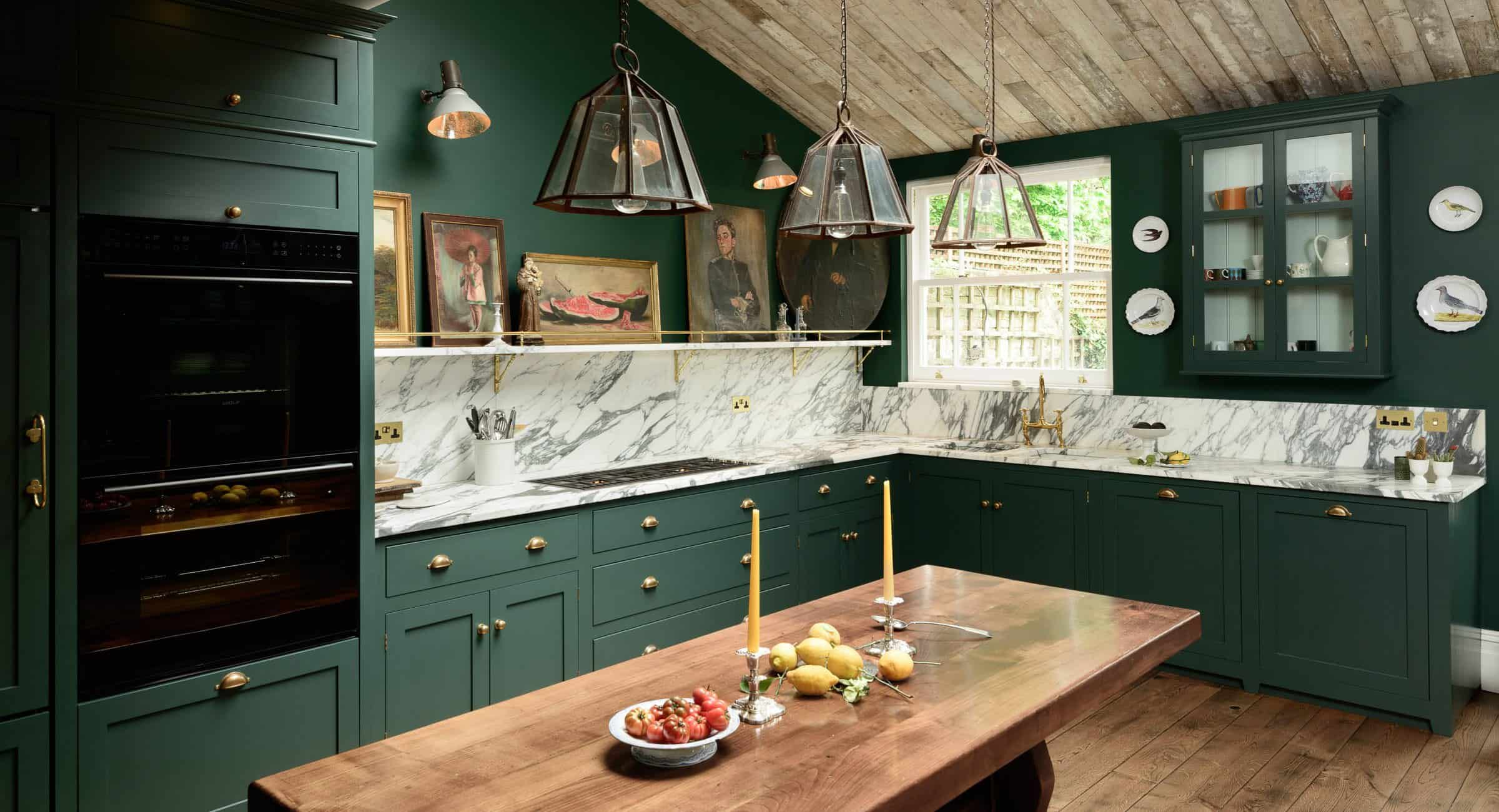 bespoke green kitchen