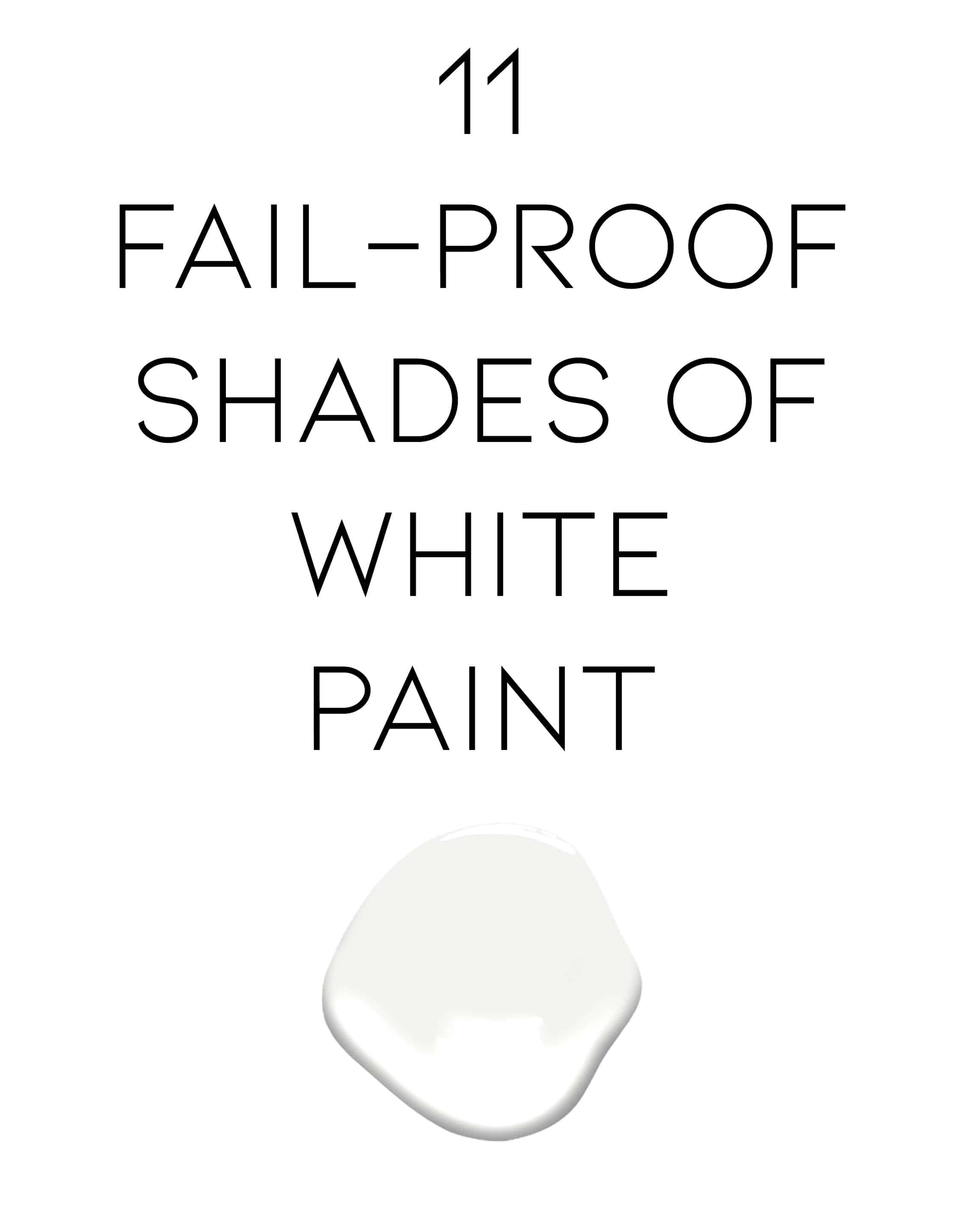 fail proof white paint