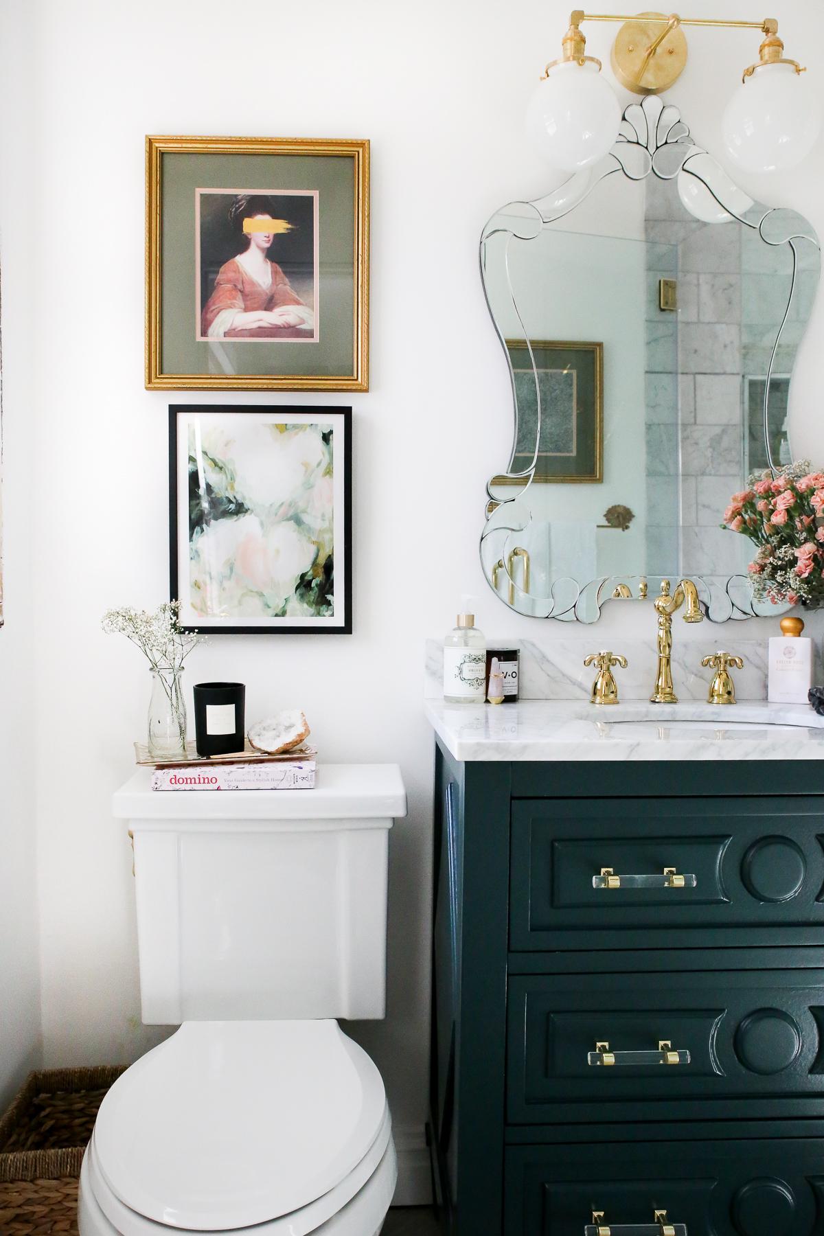 luxe-parisian-modern-vintage-marble-bathroom