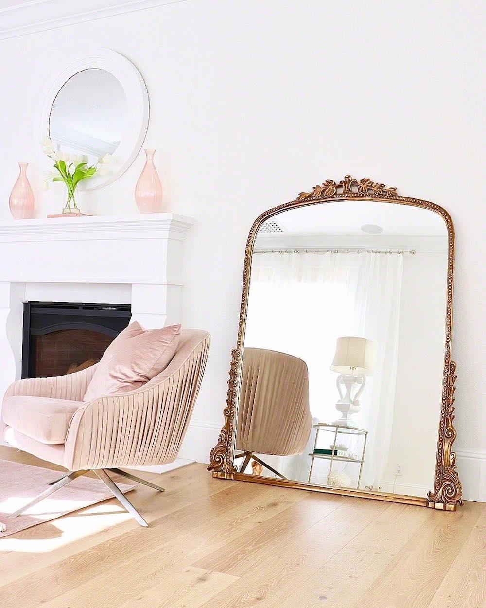 Gold 7 Foot Gleaming Primrose Mirror