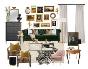 living-room-green-sofa-glam