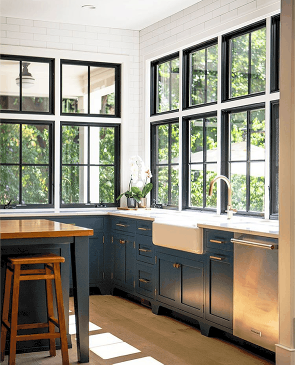 Black Window Trim Kitchen A Glass Of Bovino