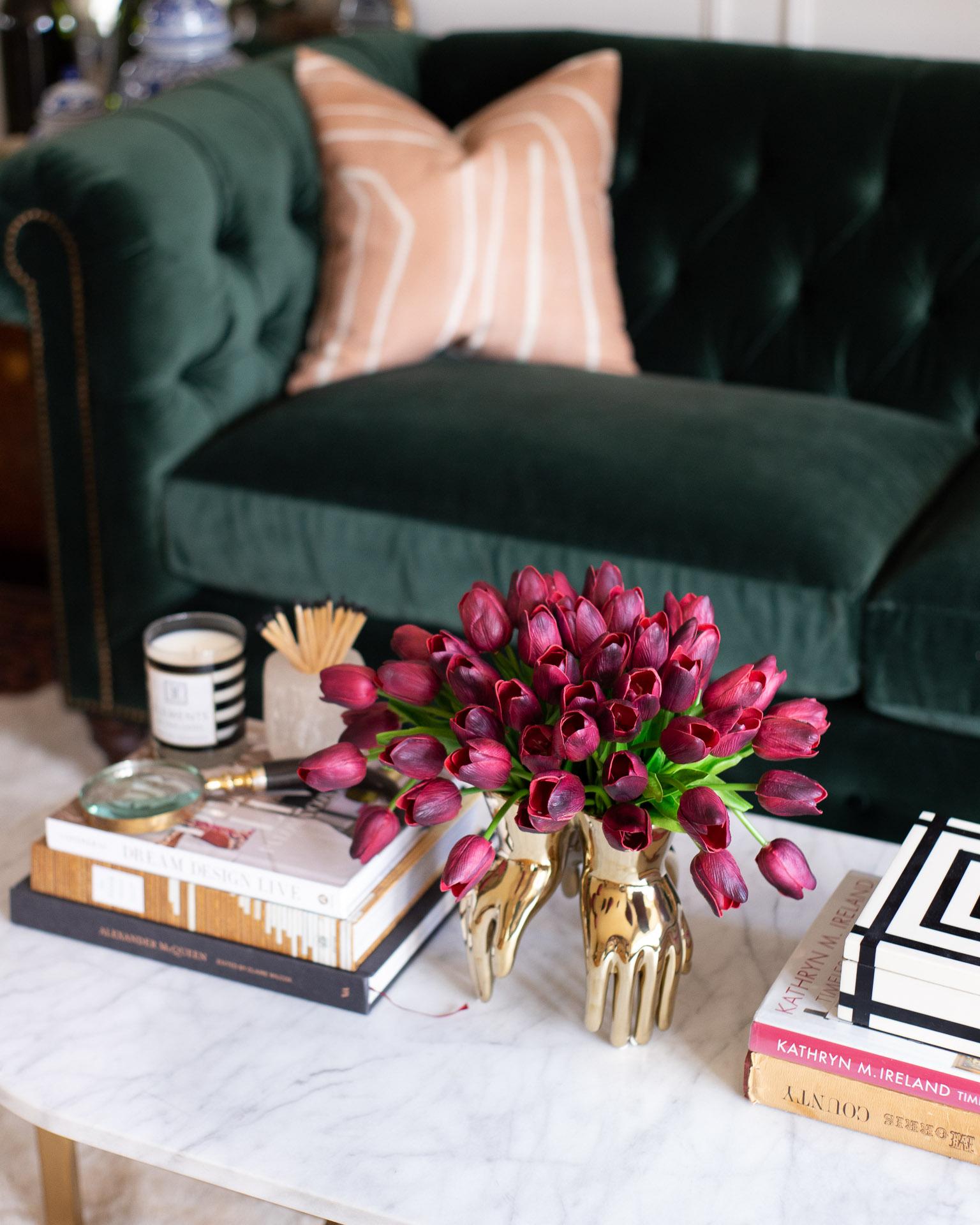 burgundy-tulips-gold-vase