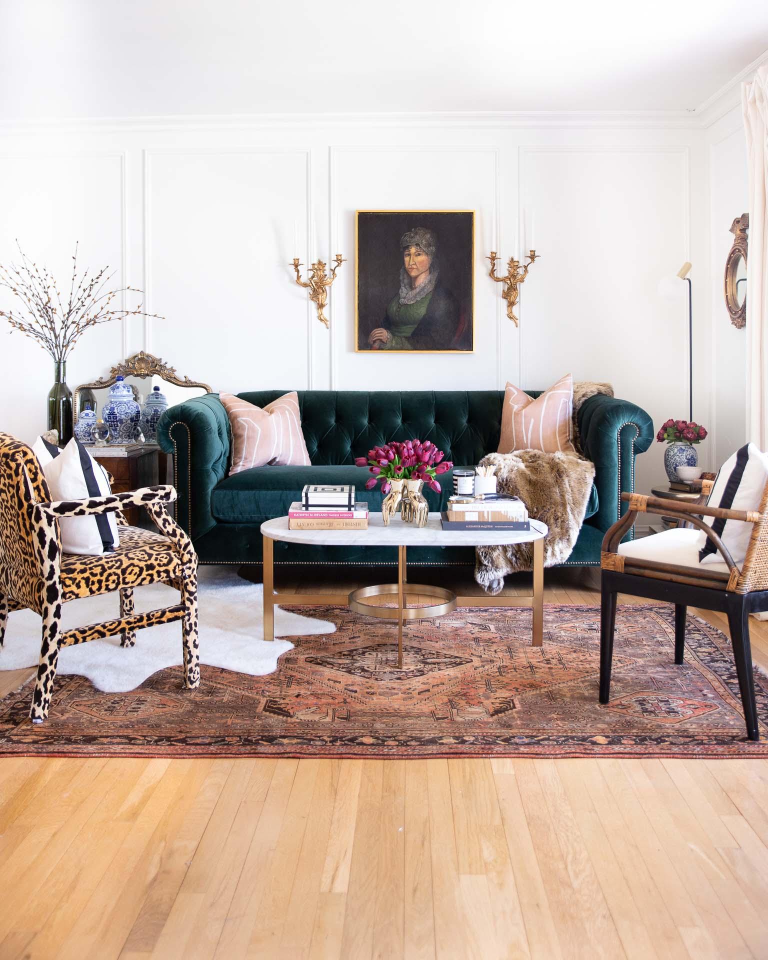 green-velvet-chesterfield-anthropologie-sofa