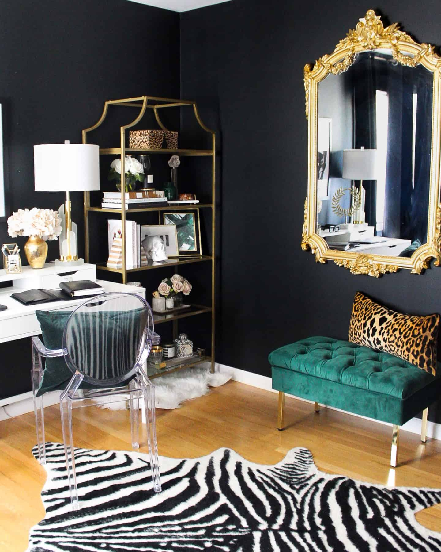black-office-design