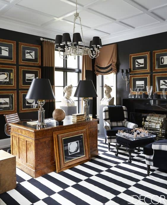 black-traditional-style-office