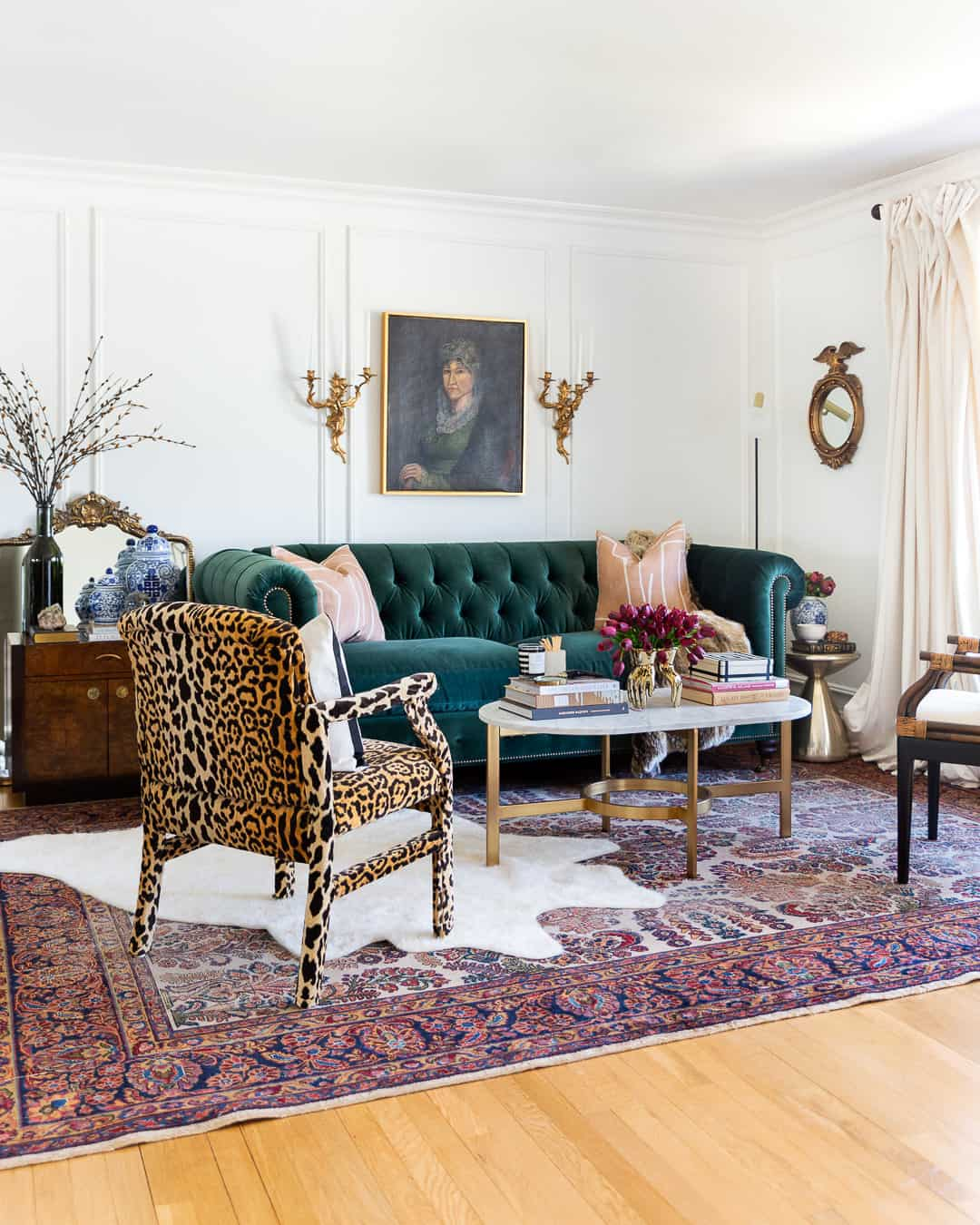 living-room-modern-traditional-glam