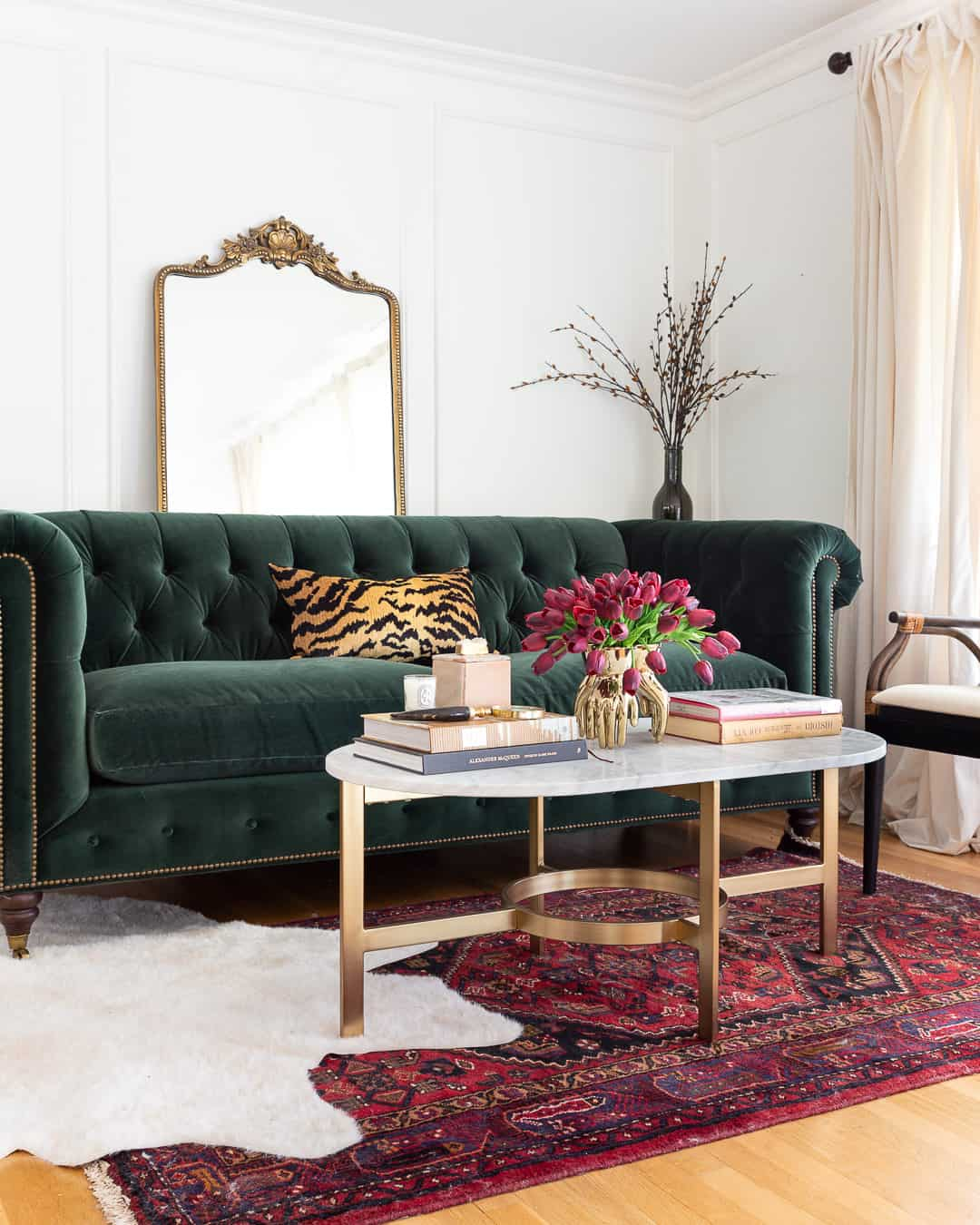 green-sofa-glam-traditional-living-room