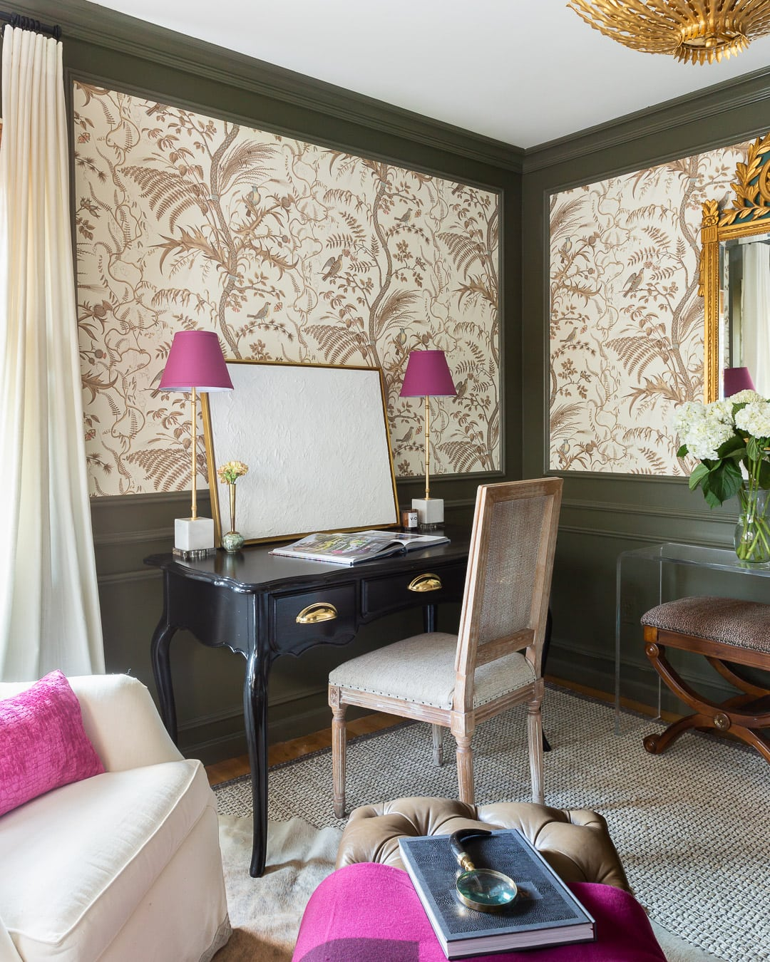fuchsia-decor-modern-office-reveal