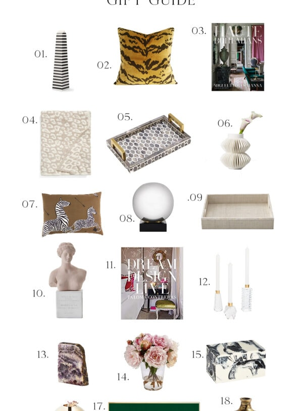 THE CHIC DECORATORS HOLIDAY GIFT GUIDE