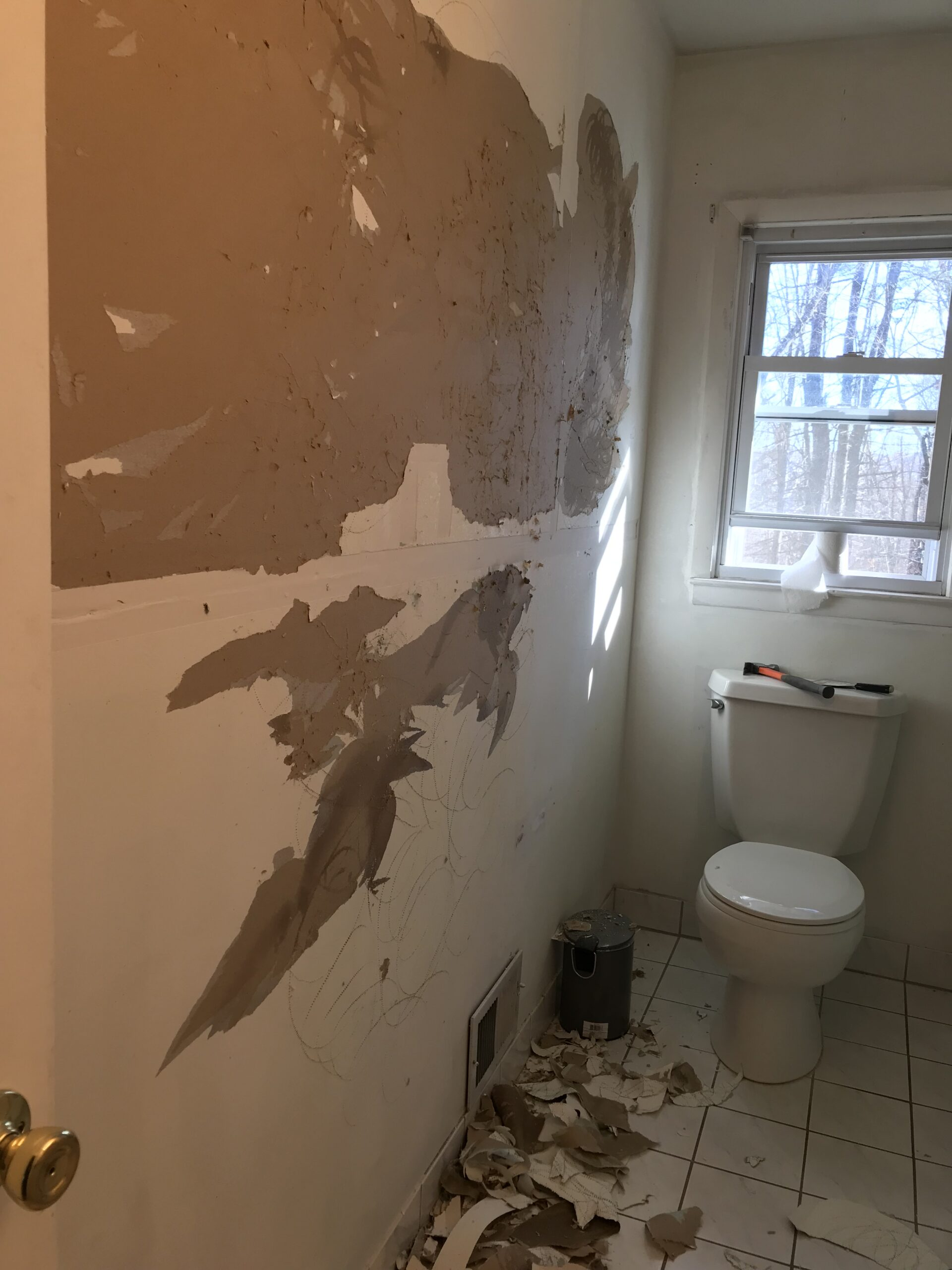 drywall-removal-bathroom