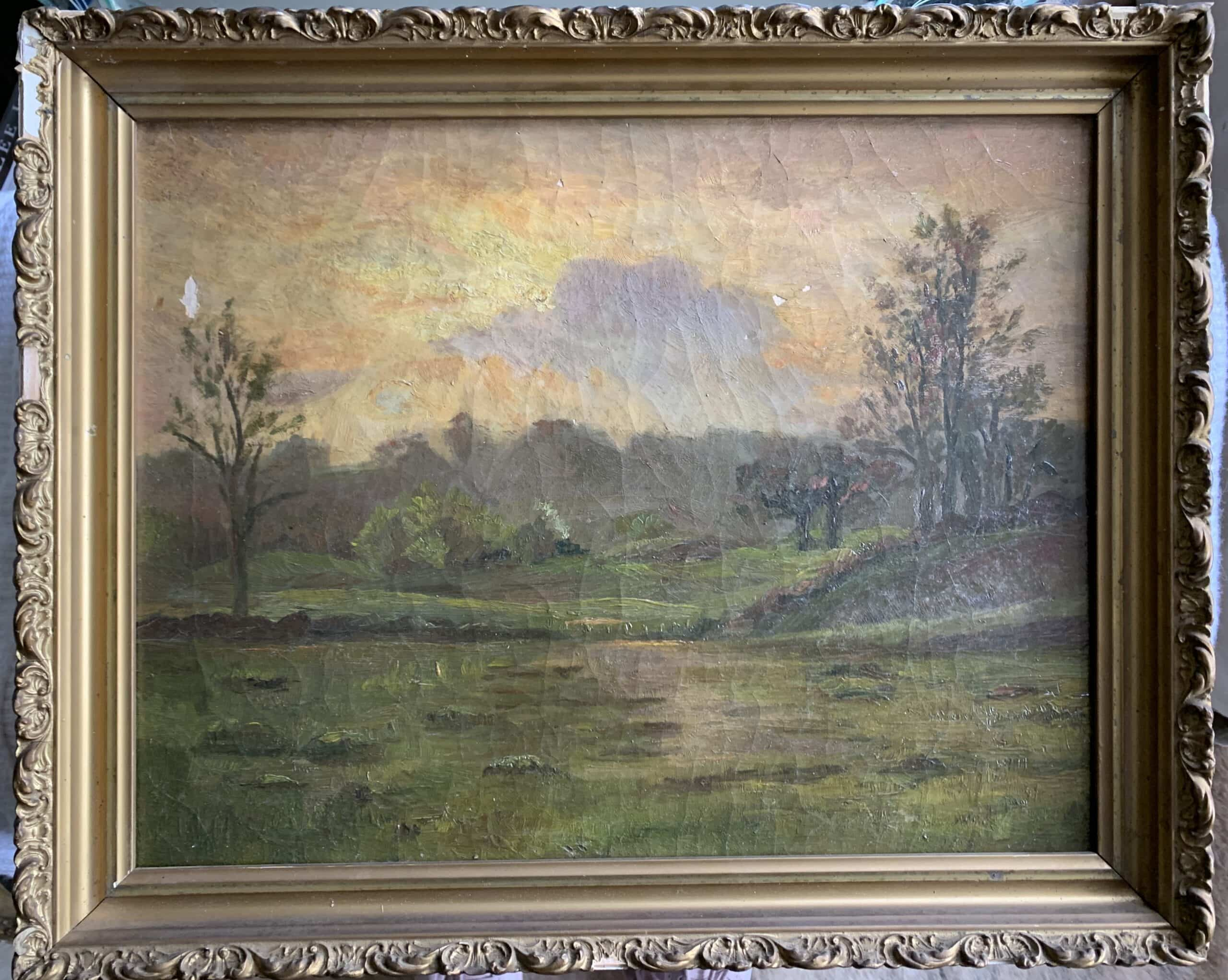 antique-framed-canvas-art