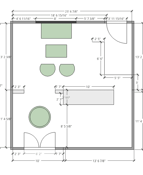 DRAFT PLANS & INSPIRATION FOR OUR UPCOMING LIVING AND DINING ROOM MAKEOVER