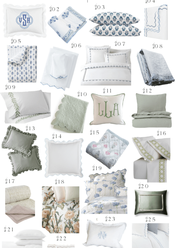 SPRING-INSPIRED BEDDING