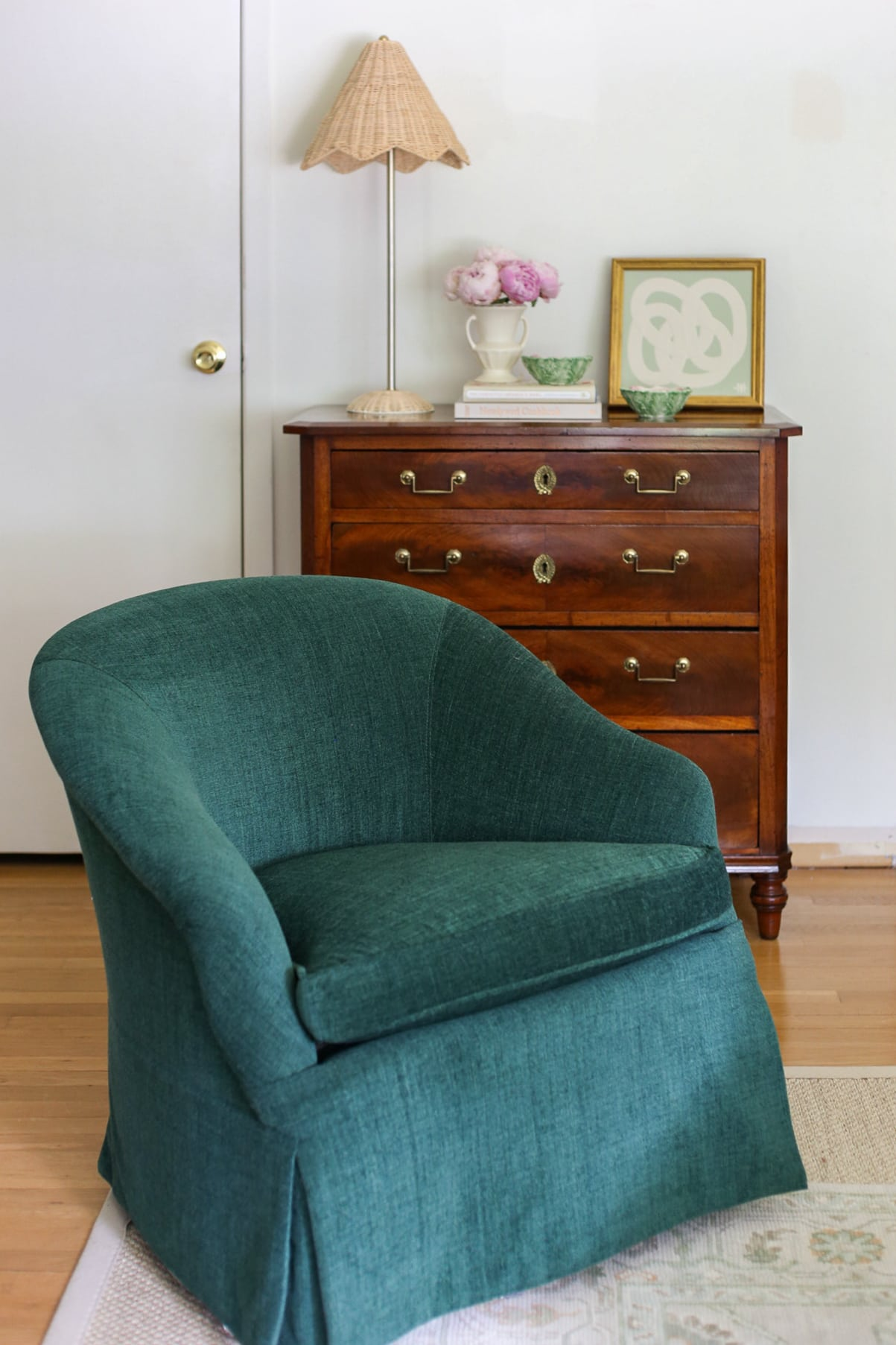 living-room-green-chairs-kravet-fabric