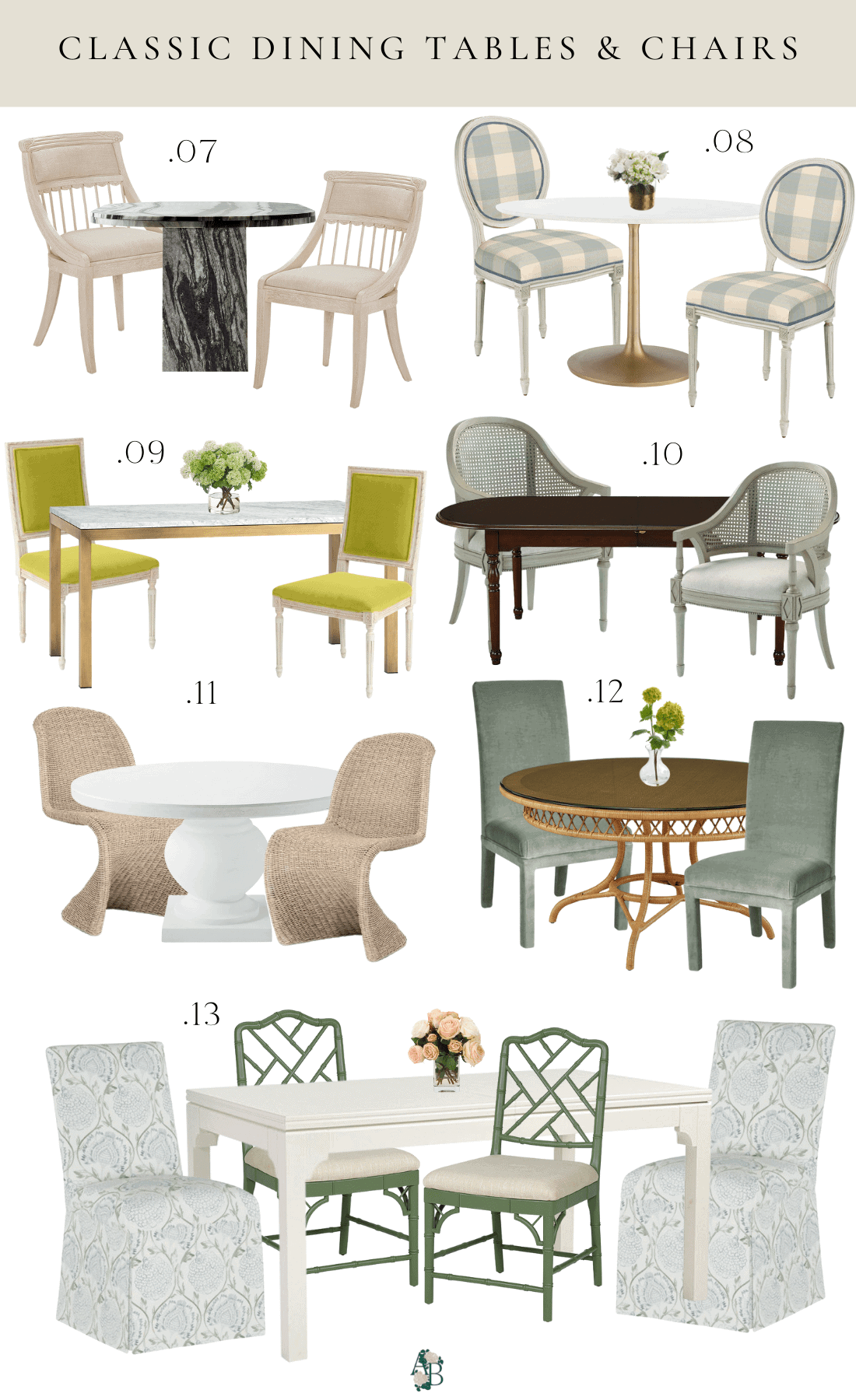 dining-table-chair-combinations-inspiration-classic-style